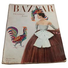 Harpers Bazaar Magazine December 1951 Christmas Edition - Women's Fashion