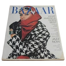 Vintage 1967 Harper's Bazaar Magazine August Edition - Women's Fashion Clothing Advertising