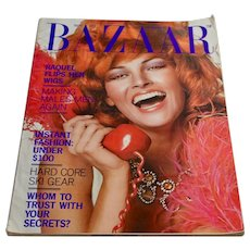 1971 Harper's Bazaar Magazine November Raquel Welch - Women's Fashion Clothing Advertising Ephemera
