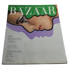 1968 Harper's Bazaar Magazine January - Women's Fashion Clothing Ephemera Advertising