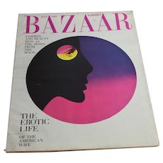 1969 Harper's Bazaar Magazine July Issue - Women's Fashion Ephemera Beauty