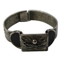 Darveau Brutalist Pewter Cuff Bracelet Modernist Jewelry Canada