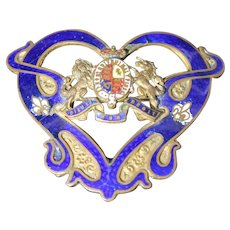 British Order of the Garter Pin Award Art Nouveau Brooch Medal Knighthood