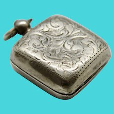 Sterling Silver Sovereign Coin Holder Case Fob Purse 1907 John Gilbert Birmingham Chatelaine