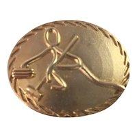 Vintage Modernist Curler Scarf Clip Slide Gold Tone Curling Fashion
