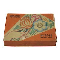 Art Deco Three Flowers Make-up Cosmetics Box Richard Hudnut N.Y. Paris