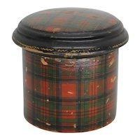Antique Stuart Tartanware Box Scottish Treen Mauchline Ware Wood