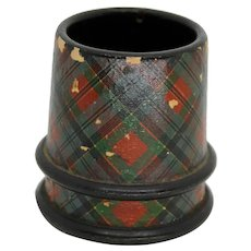 Tartanware Holder Sewing Scottish Treen Mauchline Ware