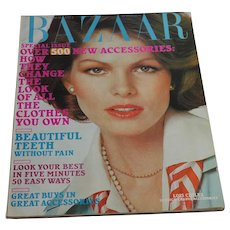 Harper's Bazaar Magazine 1971 March Edition - Women's Fashion Clothing Beauty Advertising 70s