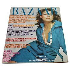1973 Harper's Bazaar Magazine April Women's Fashion Beauty News