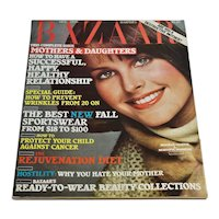 Vintage 1976 Harper's Bazaar Magazine October - Women's Fashion Ephemera Beauty News 70s Ads