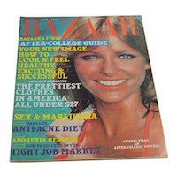 1976 Harper's Bazaar Magazine CHERYL TIEGS - June Women's Fashion Beauty Articles Ephemera Ads