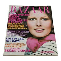 Harper's Bazaar Magazine January 1976 Edition - Fashion Clothing Advertising 70s