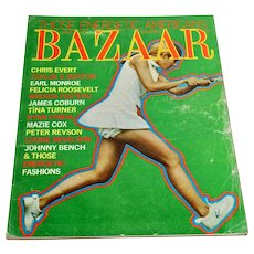 1972 Harper's Bazaar Magazine April Edition - Women's Fashion Clothing Beauty Tennis Chris Evert