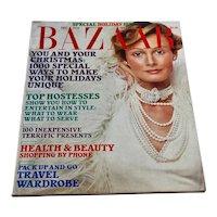Vintage 1973 Harper's Bazaar Magazine December Edition