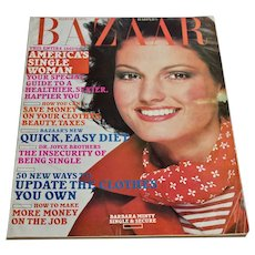 1976 Harper's Bazaar Magazine March Women's Fashion Clothing Beauty Advertising 70s