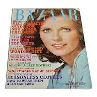1975 Harper's Bazaar Magazine July Women's Fashion Clothing Beauty 70s Ads Cheryl Tiegs