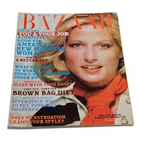 1975 Harper's Bazaar Magazine November Women's Fashion Clothing Beauty 70s Ads Shelley Smith