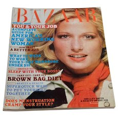 1975 Harper's Bazaar Magazine November Women's Fashion Clothing Beauty 70s Ads Shelley Smith
