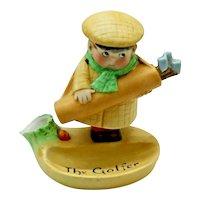 Antique Schafer & Vater Nodder Match Holder Safe Golfer Bobble Head Golf