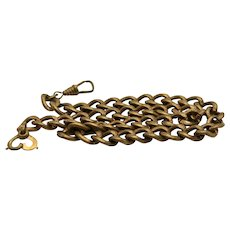 Pocket Watch Chain Necklace Gold Filled Art Deco Curb Link Jewelry