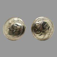 Forstner Sterling Silver Earrings Screw Back 925 Dome Button