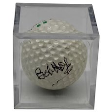Bob Hope Autographed Golf Ball Spalding Starflite 1 Display Case