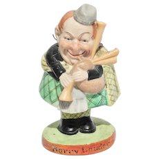 Schafer & Vater Harry Lauder Nodder Figure Scottish Bisque Porcelain Germany Bobblehead