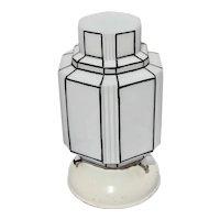 Art Deco Ceiling Light Skyscraper Design Milk Glass Lamp Shade Fixture Modernism