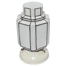 Art Deco Ceiling Light Skyscraper Design Milk Glass Lamp Shade Fixture Modernism