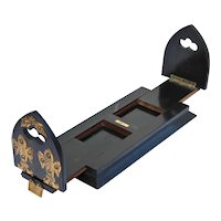 Antique Betjemann Book Slide Coromandel Ebony Wood Victorian Treen Holder Ends Rack