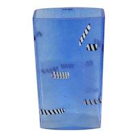 Kosta Boda Bertil Vallien Vase Art Glass Sweden Blue Licorice Signed