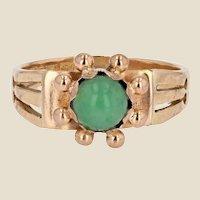 1940s Jade 18 Karat Rose Gold Ring