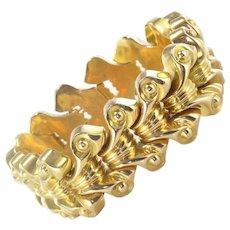 French 1940s 18 Karats Yellow Gold Tank Bracelet