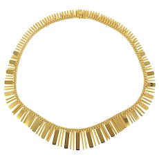 1970s 18 Karats yellow Gold Necklace