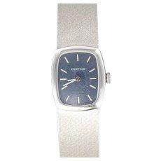 1950s Certina 18 Karats White Gold Women Watch