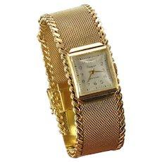 Flamor Ladies 18 Karats Yellow Gold Manual Wind Wristwatch