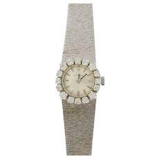 French Ladies Eviana 18 Karats White Gold Diamond Wristwatch