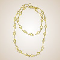 1900s Antique 18 Karats Yellow Gold Round Link Chain Necklace