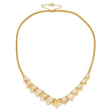 1950s French 18 Karats Yellow Gold Necklace