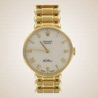 Rolex Ladies Yellow Gold Cellini Mechanical Wristwatch