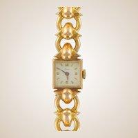 Ladies Yellow Gold Vintage manual Wristwatch, 1950s