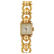 Ladies Yellow Gold Vintage manual Wristwatch, 1950s
