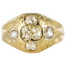 18th Century 18 Karat Yellow Gold 0.40 Carat Diamond Ring