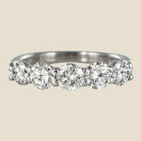 New 1.95 Carat E.VVS Diamond 18 Karat White Gold Wedding Ring