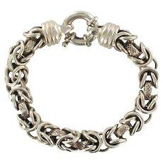 1960s Sterling Silver Curb Bracelet