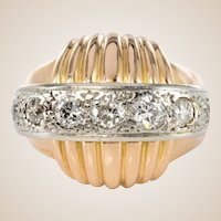 1950s Vintage Gadroons Diamond Ring
