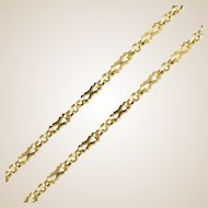 19th Century 18 Karats Yellow Gold Long Chain Matinee Necklace