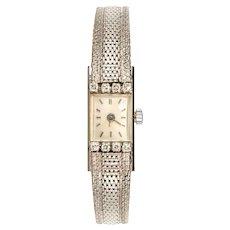 1960s Diamonds White Gold Ladies Watch