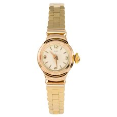 1960s Retro Yellow Gold Lip Ladies Wristwatch